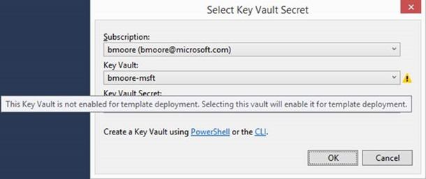 KeyVault not enabled