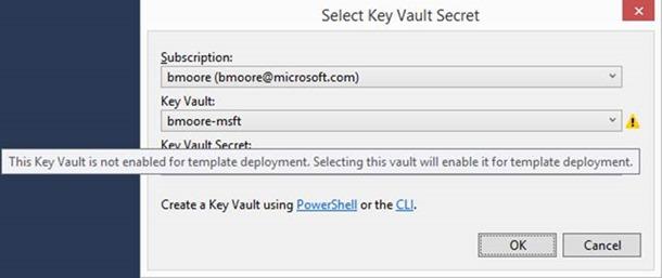 KeyVault not enabled