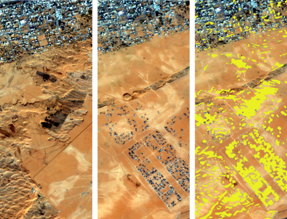 Two images taken by the European Space Agency Satellite Sentinel 2