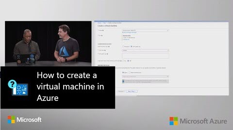 Thumbnail from How to create a virtual machine in Azure | Azure Portal Series