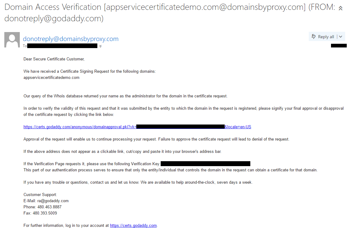 Sample Verification Email