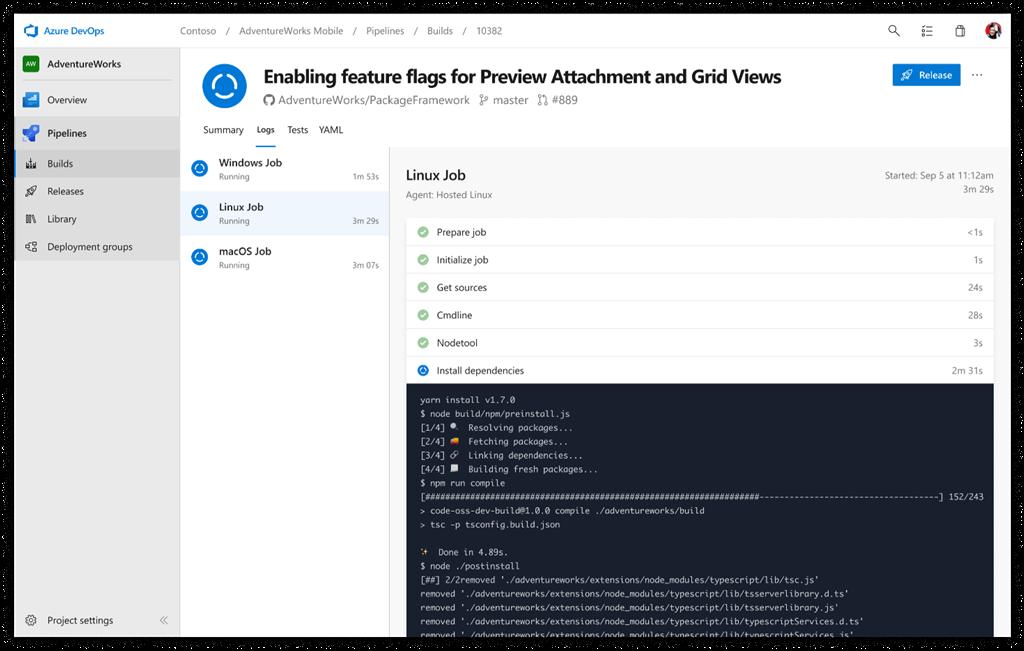 Beispiel für Azure Pipelines, die unabhängig voneinander zum Erstellen eines GitHub-Repos verwendet werden