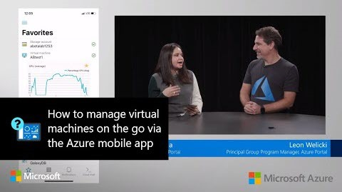 Thumbnail from How to manage virtual machines on the go via the Azure mobile app