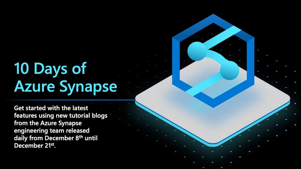 10 Days of Azure Synapse (black background, blue graphic).