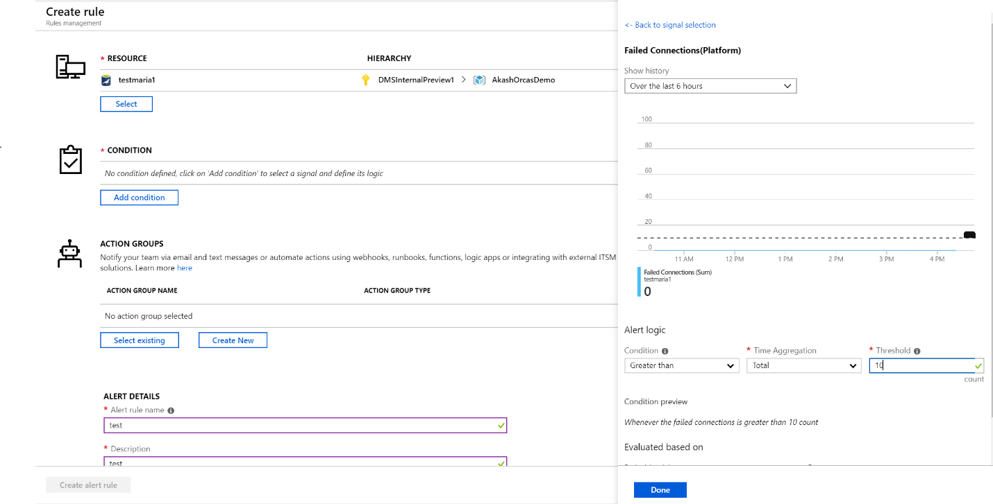 Failed Connections (Platform) screenshot