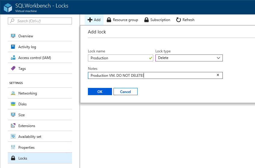 Locks in Azure Stack