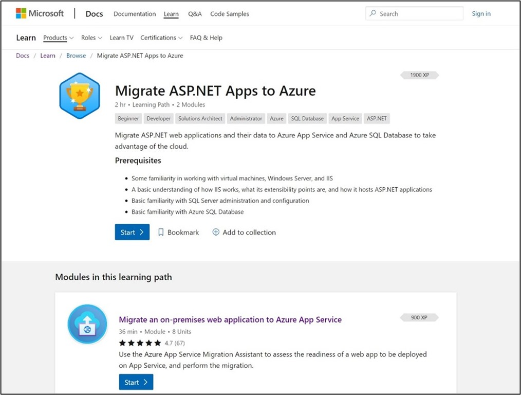 Migrate ASP .NET Apps to Azure