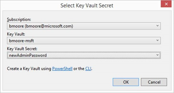 KeyVault Secret Selection