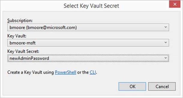 KeyVault Secret Selection
