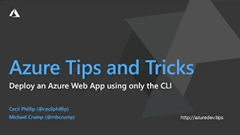 Screenshot from How to deploy an Azure Web App using only the CLI tool video