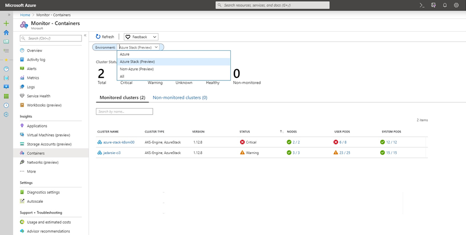 Azure Monitor コンテナー
