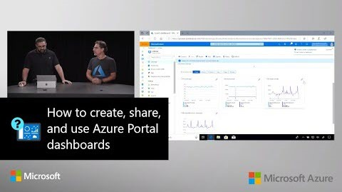 Thumbnail from How to create, share, and use Azure portal dashboards on YouTube