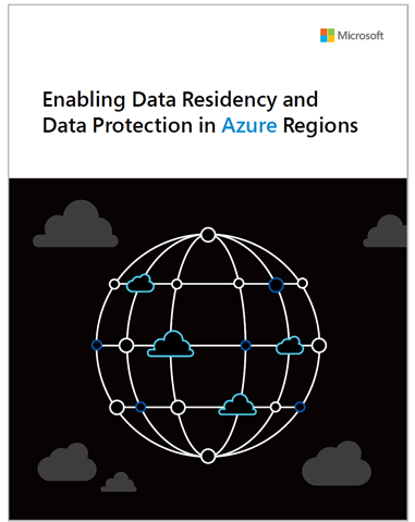 Cover of the Enabling Data Residency and Data Protection in Azure Regions white paper.