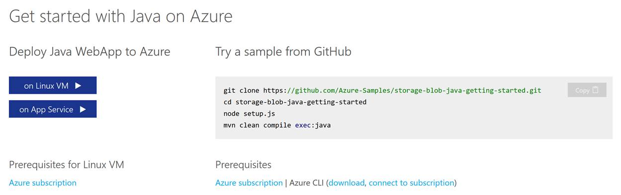 Three new and easy ways to get started with Java on Azure