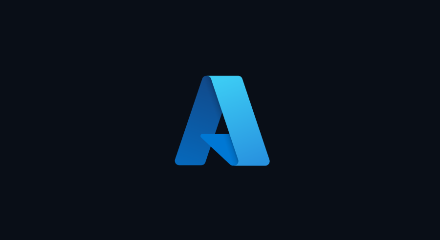The new Azure product family icon. An blue Azure icon on a black background.