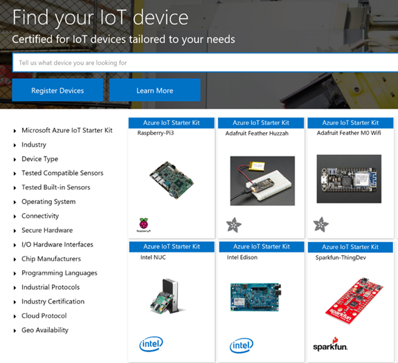 Find your IoT device