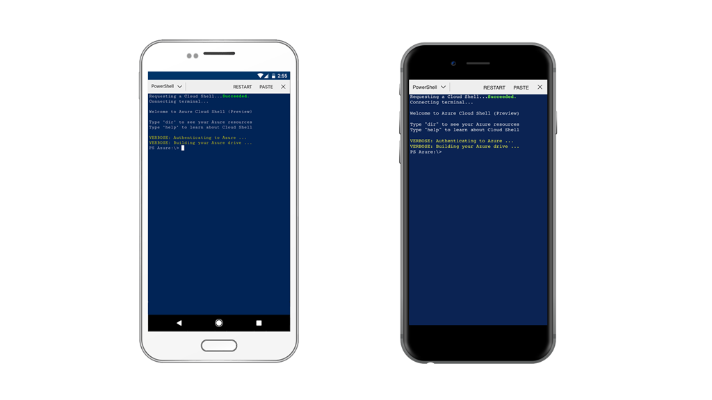 powershell cloud shell on devices