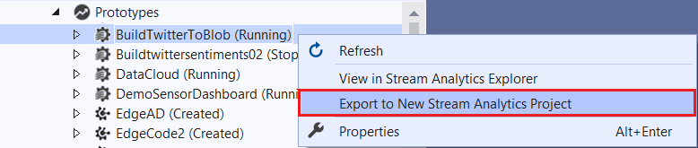 An Image showing how to navigate the menus and export a project.