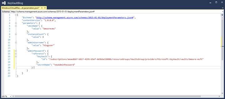 KeyVault JSON