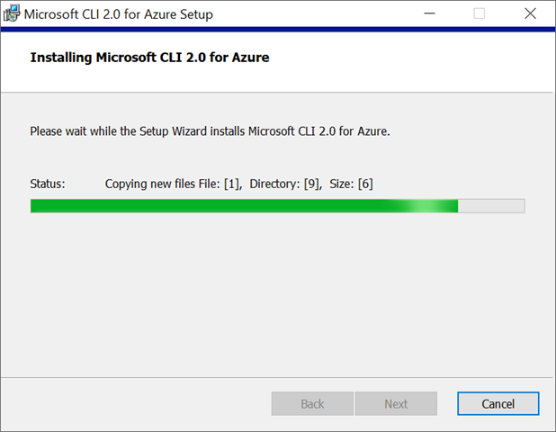 Installing Microsoft CLI 2.0 for Azure