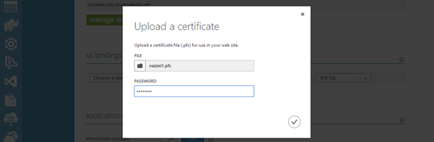 Azure Websites Upload Certificate Dialog