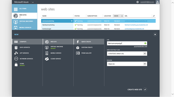 Introducing Web Hosting Plan for Azure Web Sites