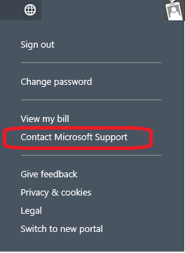 Contact Microsoft Support