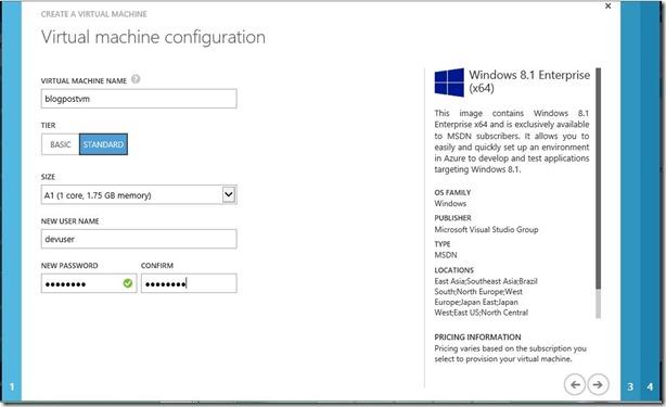 Create Windows Client VM Step 1
