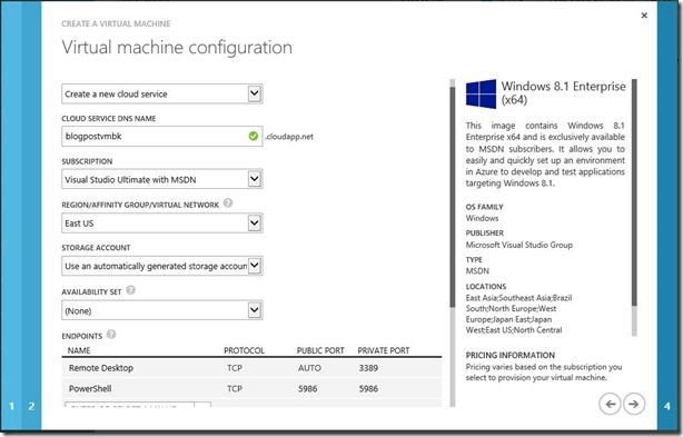 Create Windows Client VM Step 2