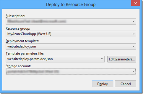 DeployToResourceGroup
