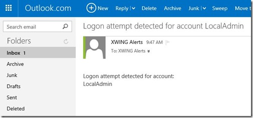 Email alert sent