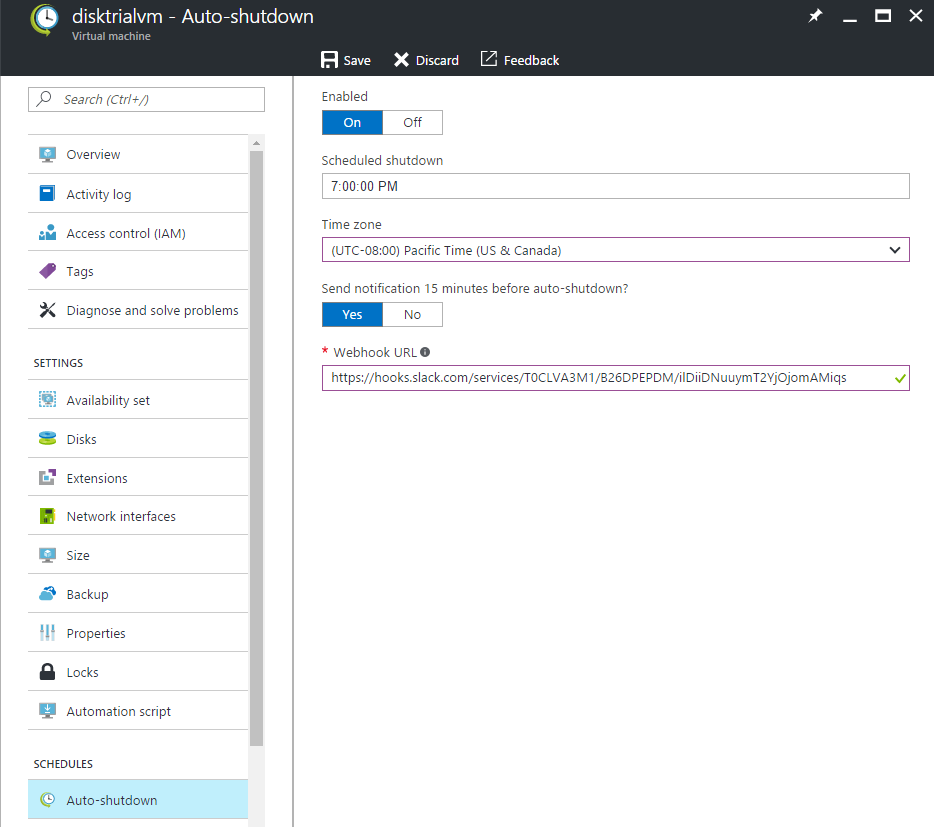 Set auto-shutdown for any ARM-based Azure VMs