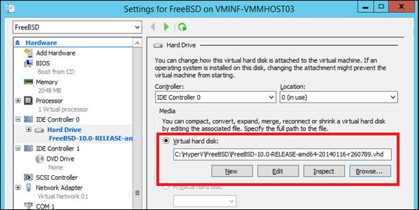 Attach a VHD to a virtual machine