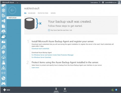 Azure Backup Service- Backup vault Quick start