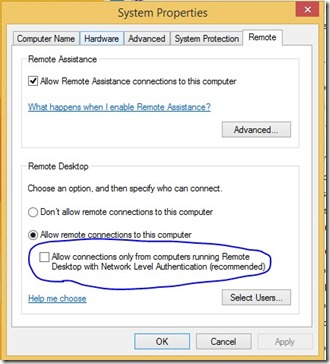 Add Microsoft Account for Remote Desktop