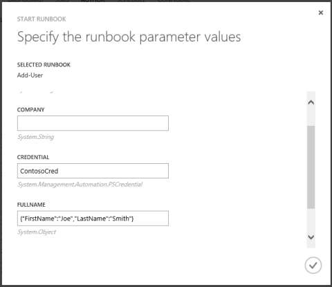 UX for Start Runbook