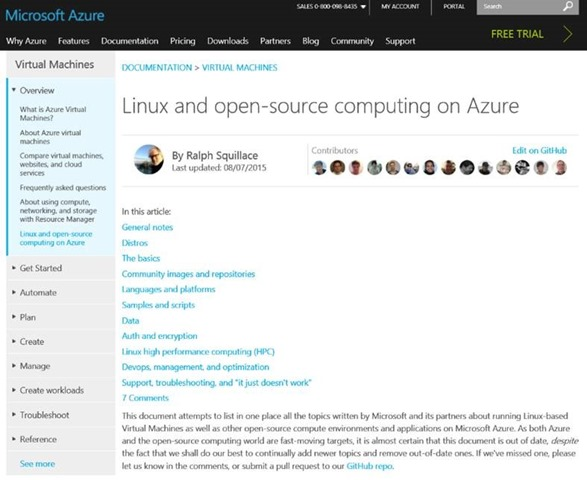 Linux and open-source computing on Azure