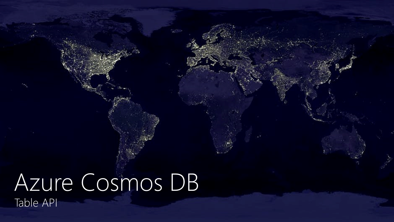 Azure Cosmos DB Table API