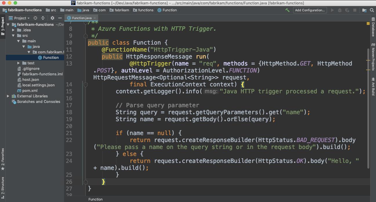 Entwicklung und Überwachung in Azure Functions