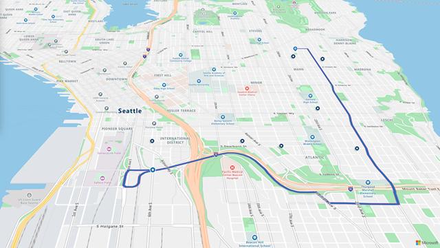 Azure Maps Route Service