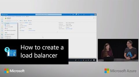 Thumbnail from How to create a             load balancer | Azure Portal Series