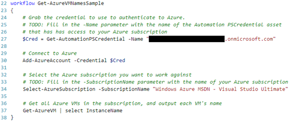 Azure Automation: Authenticating to Azure using Azure Active Directory