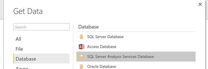 SQL Server Analysis Services Database