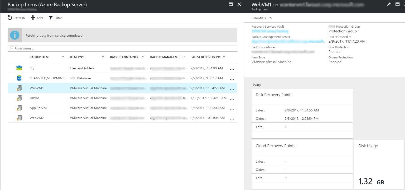 Azure Backup Server - central monitoring