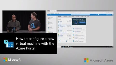 Thumbnail from How to configure a new virtual machine with the Azure Portal