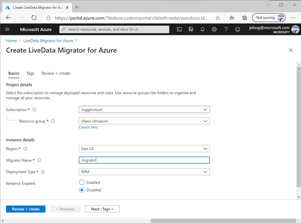 Azure Portal's 'Create' experience