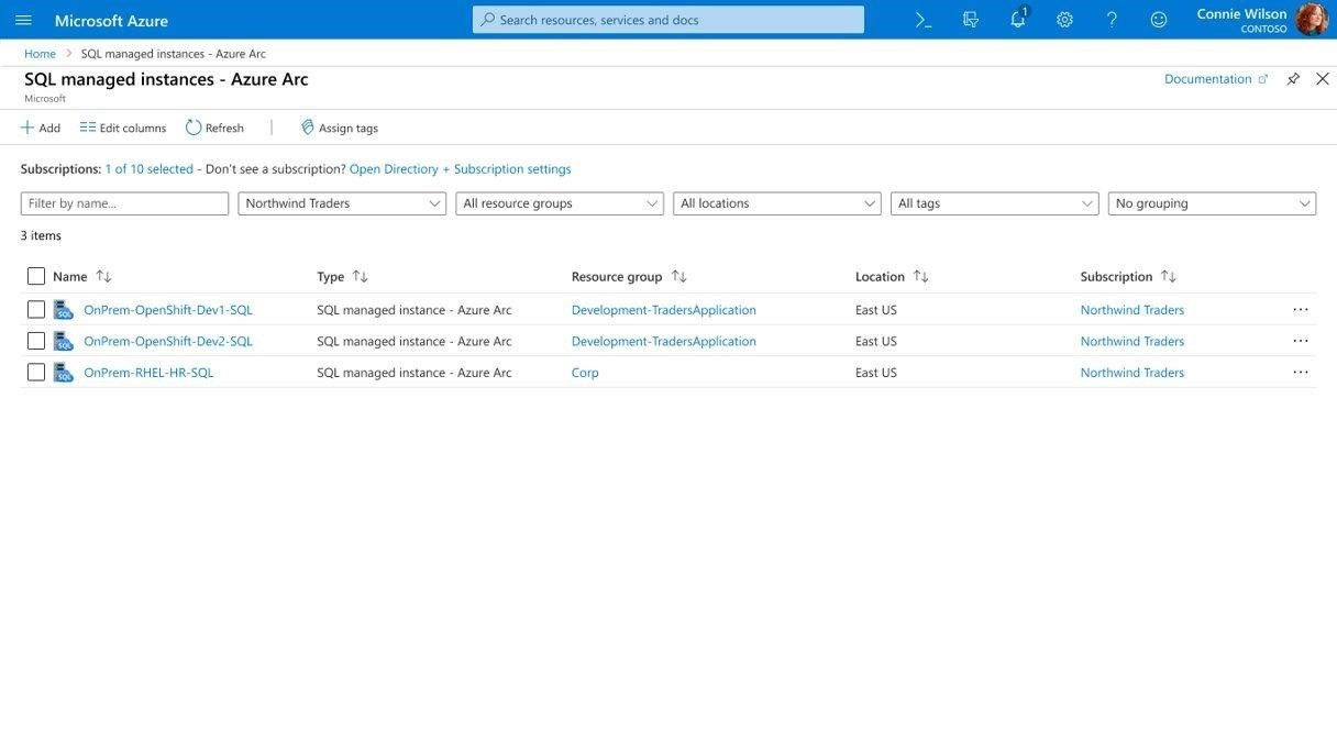 Azure SQL Managed Instances within Azure Arc.