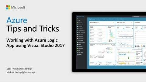 Thumbnail from How to work with Azure Logic App using Visual Studio 2017 from Azure Tips and Tricks on YouTube