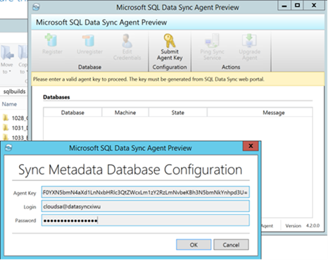 Sync Metadata Database Configuration