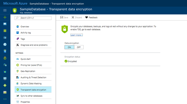 Public Preview of Transparent Data Encryption (TDE) with Bring Your Own Key (BYOK) support